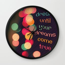 Vintage Colorful Christmas Bokeh Wall Clock