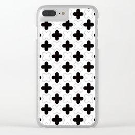 Geometric Pattern 248 (crosses) Clear iPhone Case