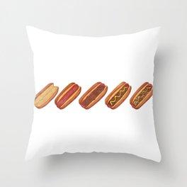 Evolution of A Hotdog Throw Pillow