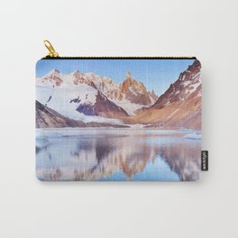 Cerro Torre, Patagonia, Argentina reflected in lake below, at sunrise Carry-All Pouch
