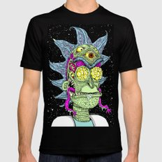 Monster Rick LARGE Black Mens Fitted Tee