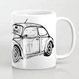 Beetle Lino Print Coffee Mug