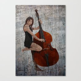 Girl on Bass Canvas Print