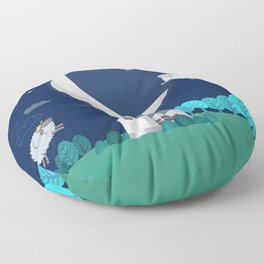 What The Sheep Do While You Sleep Floor Pillow