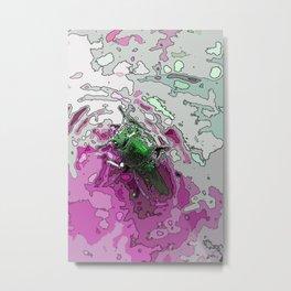Emerging Beetle  Metal Print