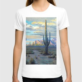 Superstition Mountains and Desert Landscape by John Marshall Gamble T-shirt