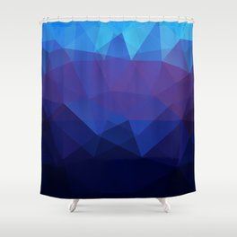 Blue abstract background Shower Curtain