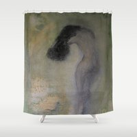 imagerybydianna Shower Curtains featuring la chambre verte by Imagery by dianna