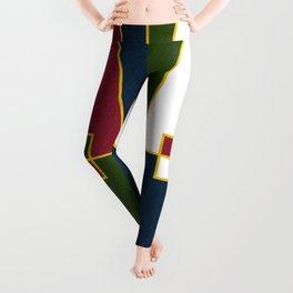 Color Block_Christmas Leggings