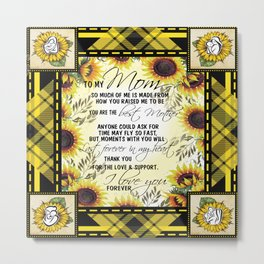 Sunflower Lovers- To my Mom from Son or daughter-You are my sunshine- Mother's Day-Grandparents Day- Metal Print