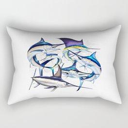 Pacific Billfish Slam Marlins,Sailfish,Swordfish,Spearfish Rectangular Pillow