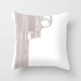 the gun /d Throw Pillow