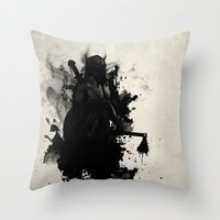 viking Throw Pillows featuring Viking by Nicklas Gustafsson