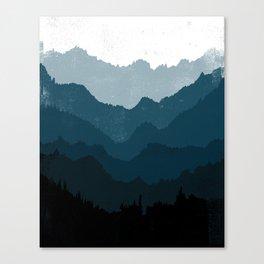 Mists No. 6 - Ombre Blue Ridge Mountains Art Print Canvas Print