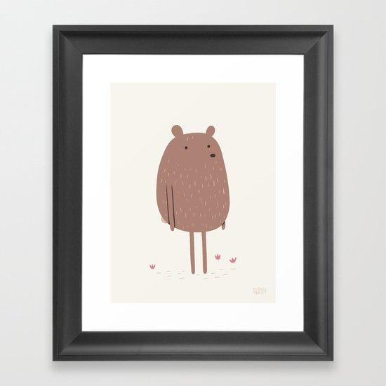There Bear Framed Art Print