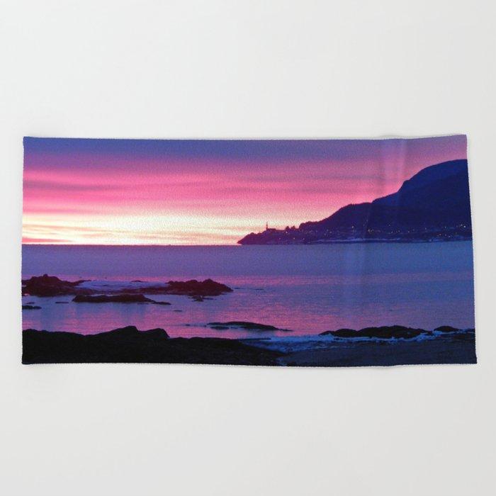 Winter's Dawn on the Coast Beach Towel