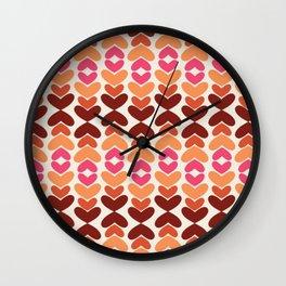 All Hearts V2 Wall Clock