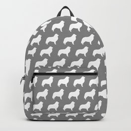 White Great Pyrenees Silhouette Backpack