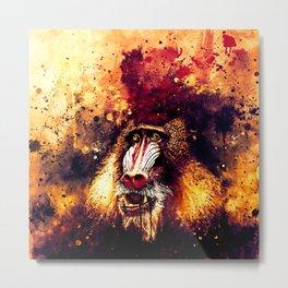 baboon monkey wsls Metal Print