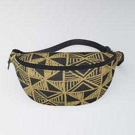 UrbanNesian Black and Gold Design Fanny Pack