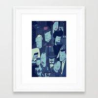 blade runner Framed Art Prints featuring Blade Runner by Ale Giorgini