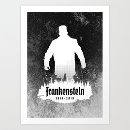 Frankenstein 1818-2018 - 200th Anniversary INV Art Print
