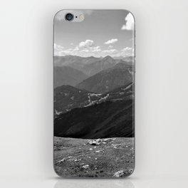 panorama on adventure park hög alps serfaus fiss ladis tyrol austria europe black white iPhone Skin