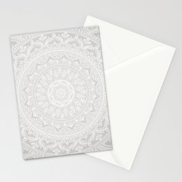 Mandala Soft Gray Stationery Cards