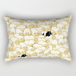 Find The Spy Pattern Rectangular Pillow