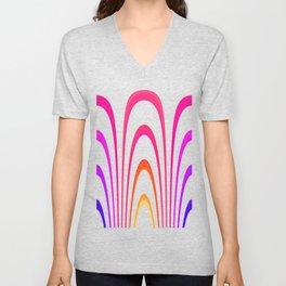 Cheerful lines Unisex V-Neck