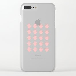 Hand Pattern Clear iPhone Case