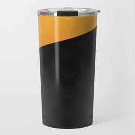 Black Suede Travel Mug