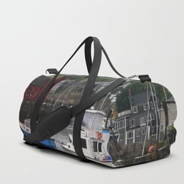 Rockport Inner Harbor With Lobster Fleet And Motif No.1 Duffle Bag