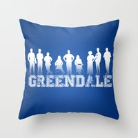 community Throw Pillows featuring Community - Greendale Community College by Jackdoc