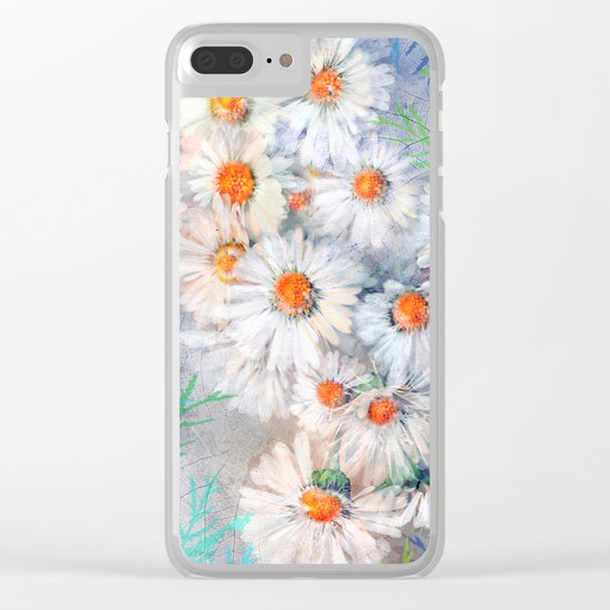 Vintage daisies(4) Clear iPhone Case