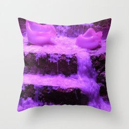 Burnin' Purple Throw Pillow
