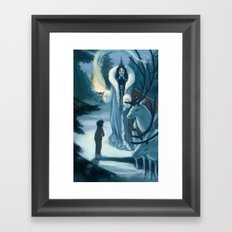 Edmund and the Witch Framed Art Print