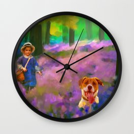 A boy and his dog Wall Clock