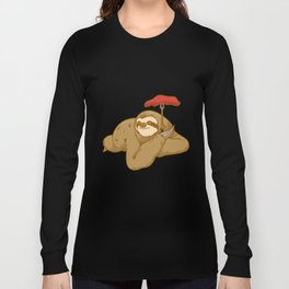 grill barbeque sloth Long Sleeve T-shirt