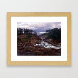 Johan Christian Dahl The Lower Falls of Labrofoss Framed Art Print