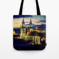 prague Tote Bags featuring Prague by EclipseLio