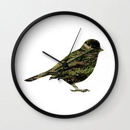 olive tree sparrow Wall Clock