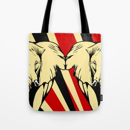 Art print: Elephant pop art Tote Bag