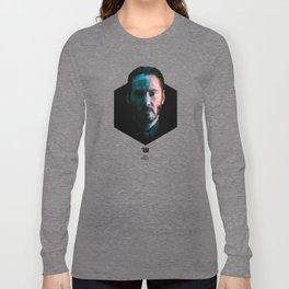 Low poly Keanu Reeves Long Sleeve T-shirt