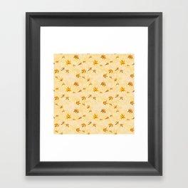 Leaves pattern Framed Art Print