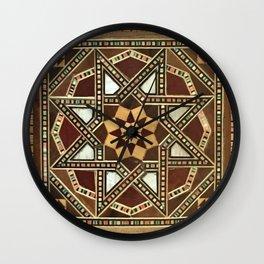 wood star Wall Clock