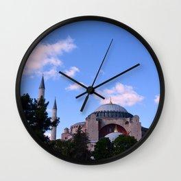 An Afternoon in Hagia Sophia (Aya Sofia, Istanbul) Wall Clock