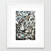 the who Framed Art Prints featuring Who? by Lily Mandaliou