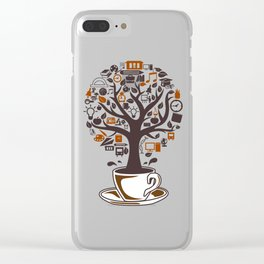Coffee Tree Clear iPhone Case