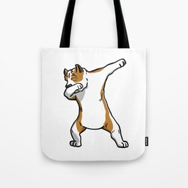 Funny Dabbing American Staffordshire Terrier Dog Dab Dance Tote Bag